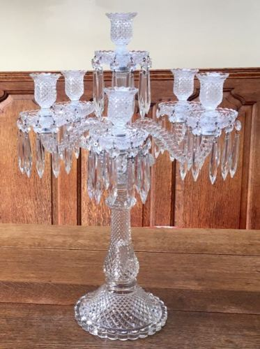 Baccarat 5 Branch Candelabra Height 57cm Price SOLD