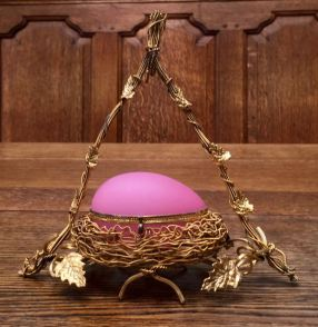 Palais Royale Opaline Glass Egg 20cm High x 18cm Wide Price SOLD