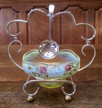 "English Vaseline ""Roses""Jam Stand SOLD"