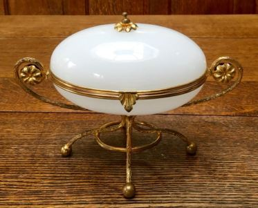 French Opaline Box 16cm High x 22cm Wide Price SOLD