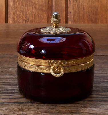 Ruby Glass Casket Height 12cm x 10cm Wide Price £220